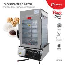 Pao Steamer 5 Layer Stainless Steel Fresco Dim Sum Steamer 1200w