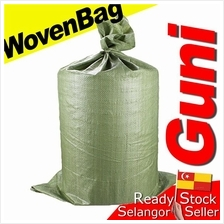 Beg Guni PP Woven Sand Bag Hijao Green Cargo Shipping Waste