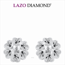 Lazo Diamond 9K White Gold Earrings - 8E2791)