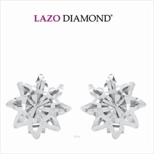 Lazo Diamond 9K White Gold Earrings - 8E2799)