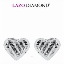 Lazo Diamond 9K White Gold Earrings - 8E2102)