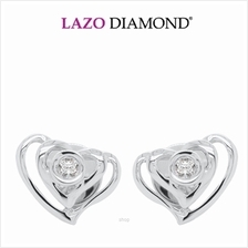 Lazo Diamond 9K White Gold Diamond Earrings - DE5607)