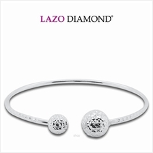 Lazo Diamond 9K White Gold Bangle - 8G0666)