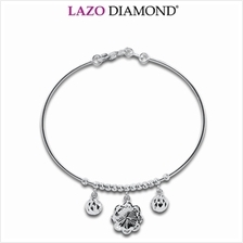 Lazo Diamond 9K White Gold Bangle - 8G0665)