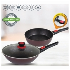Chefology Stove To Oven 2.0 Deep Fry Pan (28cm) + Wok with Glass lid (28cm)