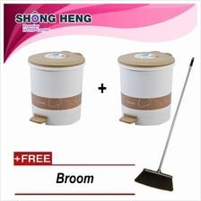 Buy 2 CHAHUA ROUND GARBAGE STEP-BIN 9.6L -15011K + Freegift