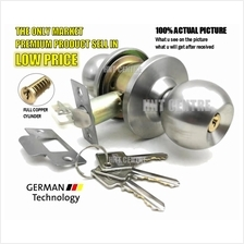 Cylinder Door Lock Set Cylindrical for Home Bedroom Room Door