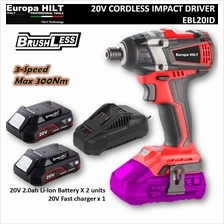 "Europa Hilt 20V Cordless Impact Driver 1/4"" Hex (Brushless Technology)"