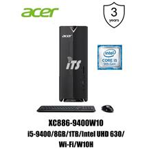 Acer Aspire XC886-9400W10 PC (i5-9400/8GB/1TB/Wi-Fi/W10H)