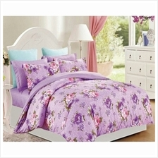 Friven Dreamz Comforter Set with Fitted Sheet (Purple Floral))