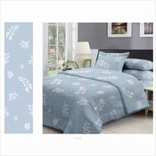 Friven Dreamz Comforter Set with Fitted Sheet (Blue Floral))