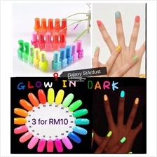4 For RM10-Candy Nail Polish-Glow In Dark Bright Neon Color Luminous