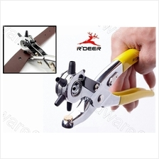 R'DEER REVOLVING 6-SIZE LEATHER HOLE PUNCH PLIERS (RT-1023)