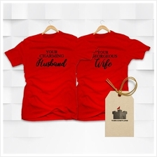 Two Shirts - Couple Set T-shirts - Red Black Cotton - Charming