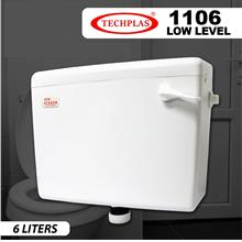 TECHPLAS ELEGEN LOW LEVEL PLASTIC CISTERN 6 LITERS - (WHITE) 1106-LL