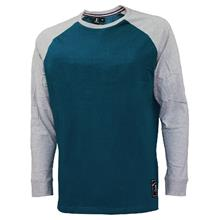 EXTREMA BIG SIZE ROUND NECK RAGLAN LONG SLEEVE (EXBT-07C) (GREEN) EX3009