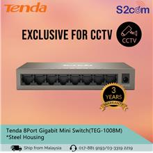 Tenda 8Port 10/100/1000mbps Gigabit Mini Switch *Metal Case (TEG1008M)