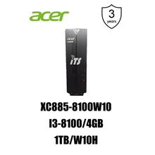Acer Aspire XC885-8100W10 PC (i3-8100/4GB/1TB/W10H)