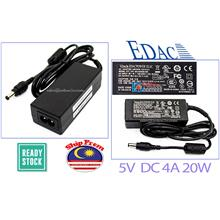EDAC AC 230V to 5V DC 4A 20w Switching Power supply adapter LED DC plug 5.5*2.