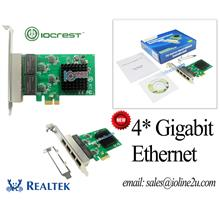 IOCREST Quad 4*gigabit LAN network card PCIe ethernet card Low Profile Bracket