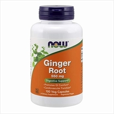 NOW Supplements Ginger Root (Zingiber officinale)550 mg