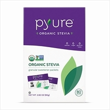 Organic Stevia Sweetener Packets Sugar Substitute 80 Count