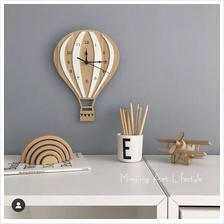 Balloon Wall Clock Handcrafted Wooden Clock Home Decoration