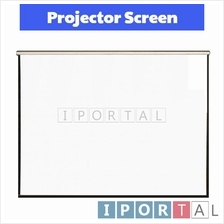 "Manual Wall Projector Screen 100"" inch Matte White 4:3"