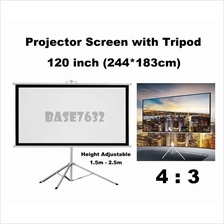 120inch 244*183cm Foldable Projector Screen w Tripod Stand 4:3 2238.1