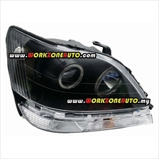 Toyota Harrier MCU15 2001 Head Lamp Projector With Rim Black Set