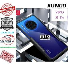 XUNDD Vivo S1 Pro S1pro ShockProof Airbag Transparent Back Black Case