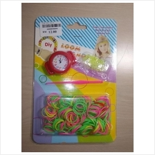 SUPER PROMOTION : RAINBOW LOOM BANDS ELECTRONIC ROUND RED WATCH