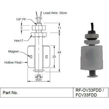 Mini Float Switch (RF/FCV/FCH Series)