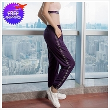Women Workout Sport Pants High Waist Loose Fit Cutting