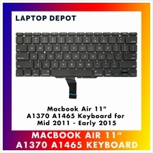 "MacBook Air 11 "" A1370 A1465 US Replacement Keyboard for 2011-2015"