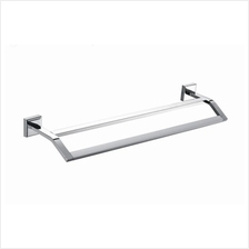 Hanso SUS 304 Double Towel Bar - 70cm Wall Mounted Stainless Steel with Fixing