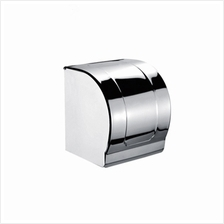 Hanso Stainless steel Paper Holder with Lid - Extra Large Toilet Wall Mounted