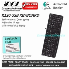 Logitech K120 Spill Resistant Quiet Typing USB Corded Keyboard