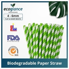 [Ecoglance Packaging] Green Color Paper Straw