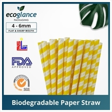 [Ecoglance Packaging] Yellow Color Paper Straw
