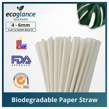 [Ecoglance Packaging] White Paper Straw