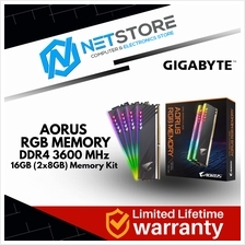 GIGABYTE AORUS RGB Memory 16GB (2x8GB) DDR4 3600MHz Ram with Demo Kit