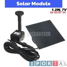 1.2W Solar Panel Power Water Pump Kit For Fountain Pond Garden