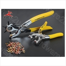 LEATHER HOLE PUNCH & EYELET PLIERS + 100PCS GROMMETS SET (RT-1022-1023
