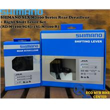 SHIMANO SLX M7100 Series Rear Derailleur + Right Shift Lever Set