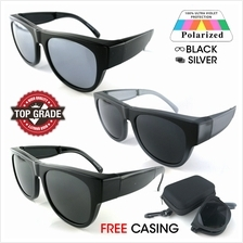 New Top Grade UV Protection Folding Fitover Glasses Polarized Sunglass