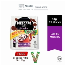 NESCAFE Latte Mocha 15 Sticks 31g Each Free 2 Milo 33g