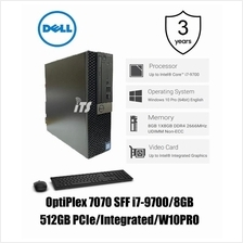 Dell Optiplex 7070 SFF PC (i7-9700/8GB/512GB PCIe/Integrated/W10Pro)