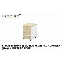 BAROS B-YMP 4(E) MOBILE PEDESTAL 4 DRAWER (4D) (CHAMFERED EDGE)
