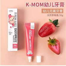 K-Mom Baby Toothpaste 30g Strawberry Flavour (Non Fluorine)